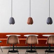 BANGERK Nordic Design Modern LED Pendant Lamp Loft Simple Resin Hanging Light Fixtures Home Decor Indoor Lighting Droplight