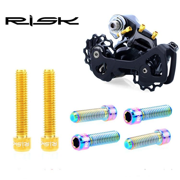 Сверхлегкие велосипедные болты с титановой головкой и шестигранной головкой m4x13, 5 мм 20 мм, шестигранный винт для переднего/заднего переключ...