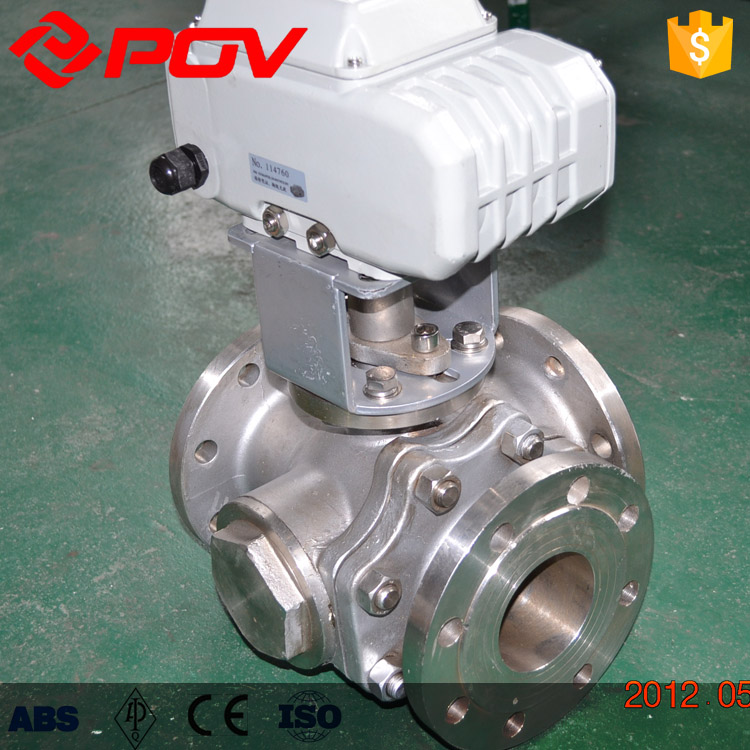 3way flanged dn15 1/2'' stainless steel ball valve 19mm 2 way 2 position water gas electric solenoid valve dc12v 2w 20