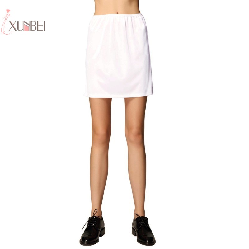 Silk Woman Short Petticoat Underskirt Half Slips Under Dress Mini Skirt Bridal Wedding Accessories
