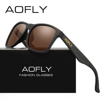 e9c2887c010 AOFLY BRAND DESIGN Night Vision Glasses Polarized Sunglasses Men Yellow  Anti Glare Vintage Driving Sun ...