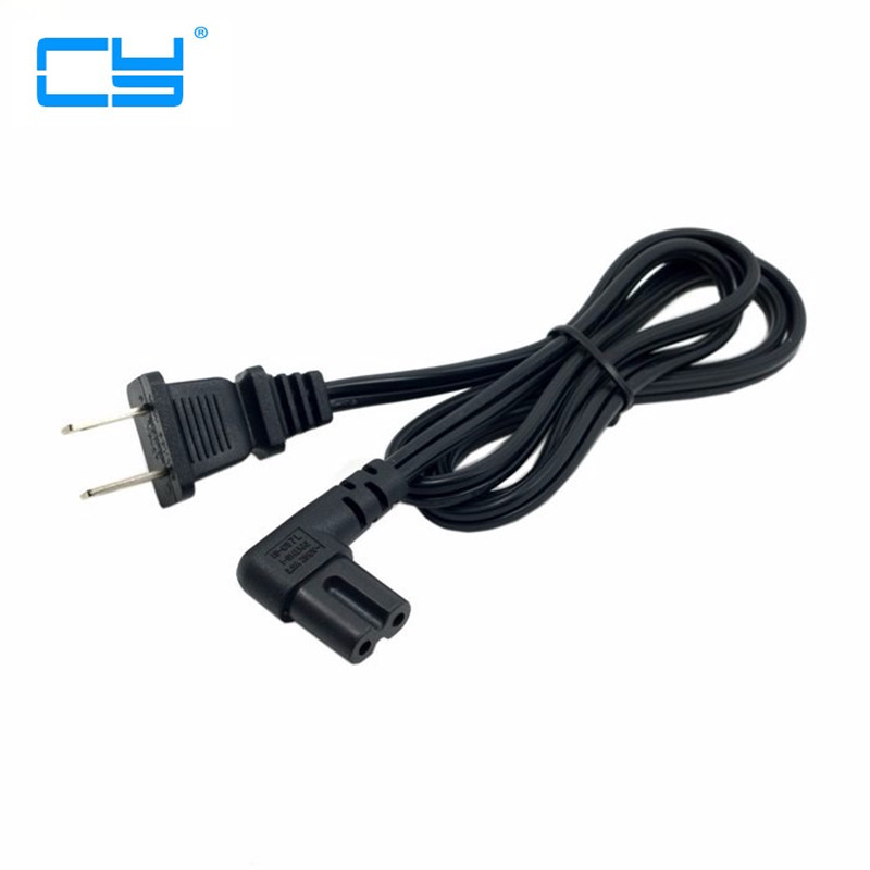 5PCS USA 2pin Male to 90 Degree Right Angled IEC 320 IEC320 C7 Power Supply Cord cable 1M 100cm 3ft кабель сетевой apc power cord kit 6 ps locking iec 320 c13 to iec 320 c14 10a 208 230v 1 2 m ap8704s ww ap8704s ww