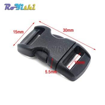 """10 unids/pack 3/8 """"(10mm) mini hebilla de plástico negro Botón de Liberación lateral pulseras de botón a presión"""