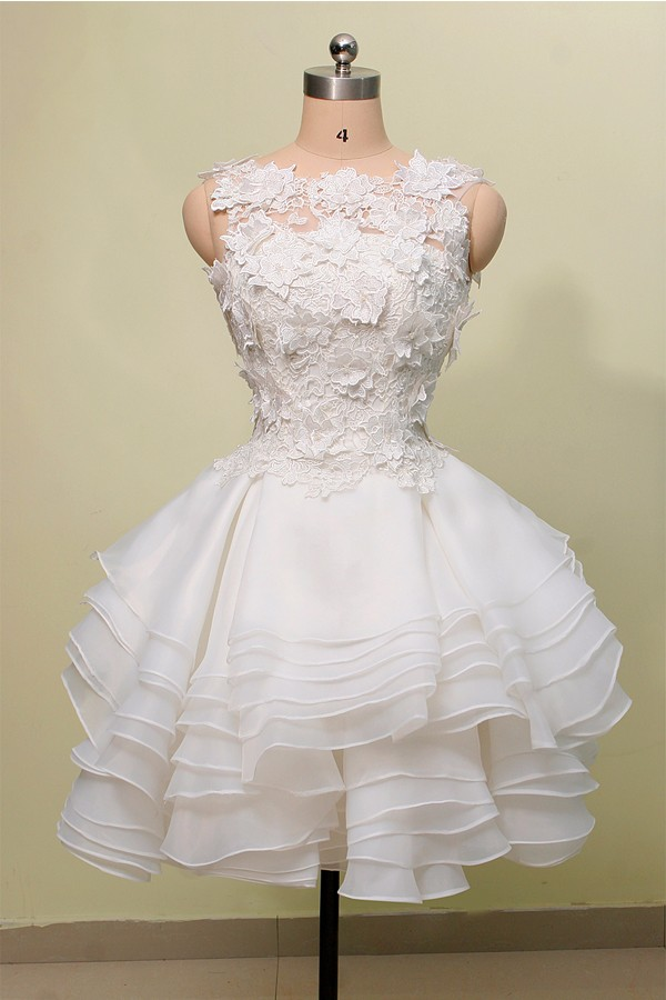 Exquisite-Ball-Gown-Jewel-Knee-Length-Lace-Organza-Homecoming-Dress-With-Layers-1