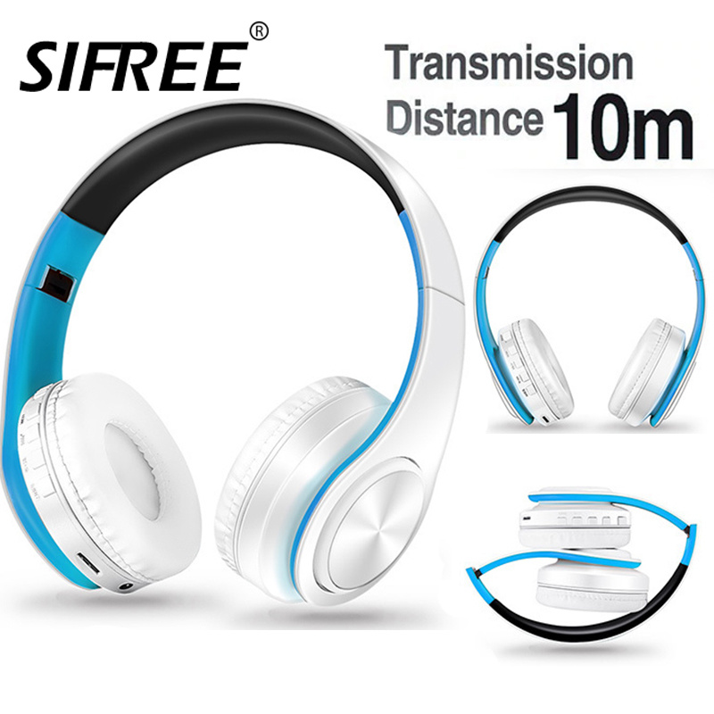 Wireless Bluetooth Earphones Headset Stereo Headphones Earphones with Microphone /TF Card for Mobile Phone Music