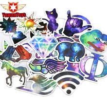 Hot Sale 28 Pcs Galaxy Stickers Mixed Funny Cartoon Jdm Doodle Decals Luggage Laptop Styling Bike