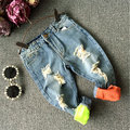 High Quality Baby Boys Jeans Para Niños Washed Denim Agujeros Hip Hop Pantalones Niños Pantalones Casuales Ropa Infantil Roupa