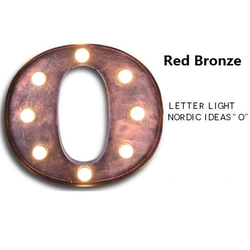 BOCHSBC железные настенные бра буквы O огни американская индивидуальная промышленная настенная лампа для бара кафе рекламный щит старинная буква свет - 4