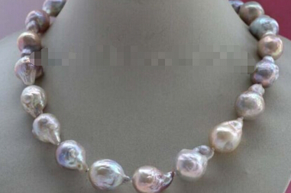 free shipping+++817 Natural Multicolor Baroque Edison Reborn Keshi Pearl necklace цена и фото