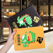 Cartoon Case For ipad 2 3 4 9.7 inch lovely Dinosaur pattern Folding Folio Stand protective Cover Smart
