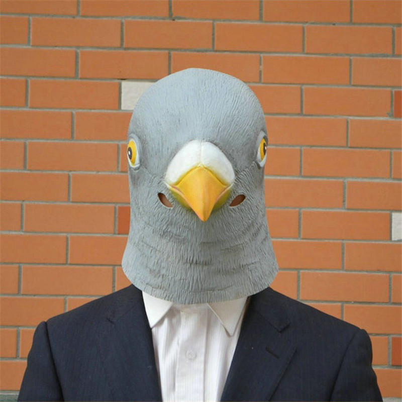 1 STÜCK Neue Taube Maske Latex Riesigen Vogel Kopf Halloween Cosplay Prop Masken Für Party Geburtstag Dekoration T50