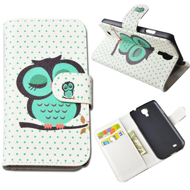 Fashion Flip PU Leather Matte Printed Case For Samsung Galaxy S4 i9500 GT-i9500 GT-i9505 i9505 i9506 Wallet Lovely Pattern Cover
