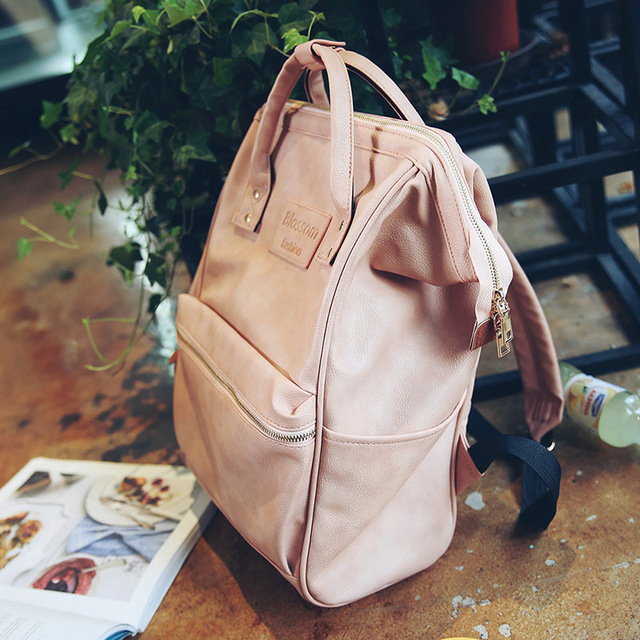 Fashion Women Leather Backpack Youth Korean Style Shoulder Bag 3
