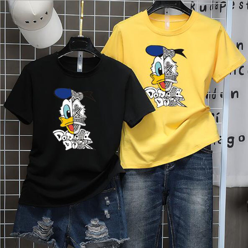 Cute Cartoon Character Print T Shirt Women Spring Summer New Style Short Sleeve O Neck Women Tops Casual Slim T-shirt Women