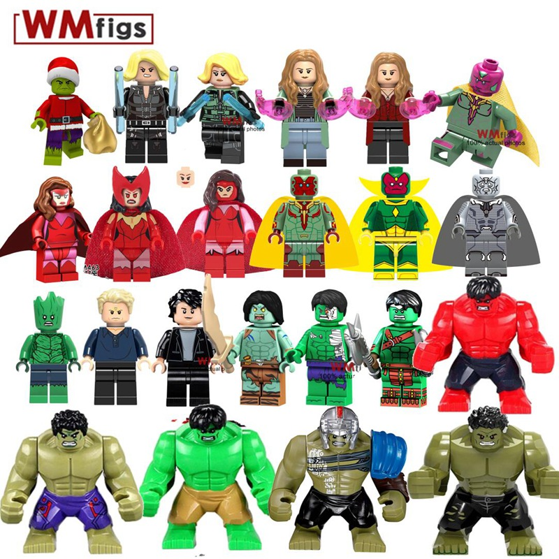 Toys & Hobbies Symbol Of The Brand Super Heroes Big Hulk Action Dolls Single Sale Thor Movie Building Blocks Toys For Children Compatible Marvel Superheroes Xh654