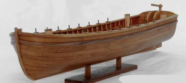 NIDALE model Sacle 1/48 Laser-cut wood Antique life boat model kits USS Bonhomme Richard Ship's life boat model kit