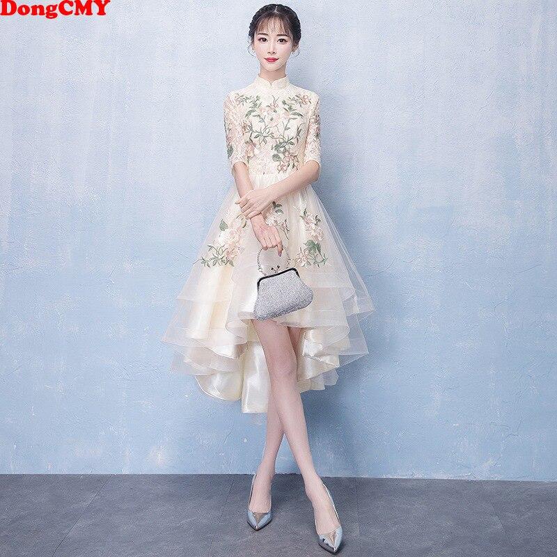 2020 New Hot Champagne Color   Bridesmaid     Dresses   Women Bride Prom Elegant Gown