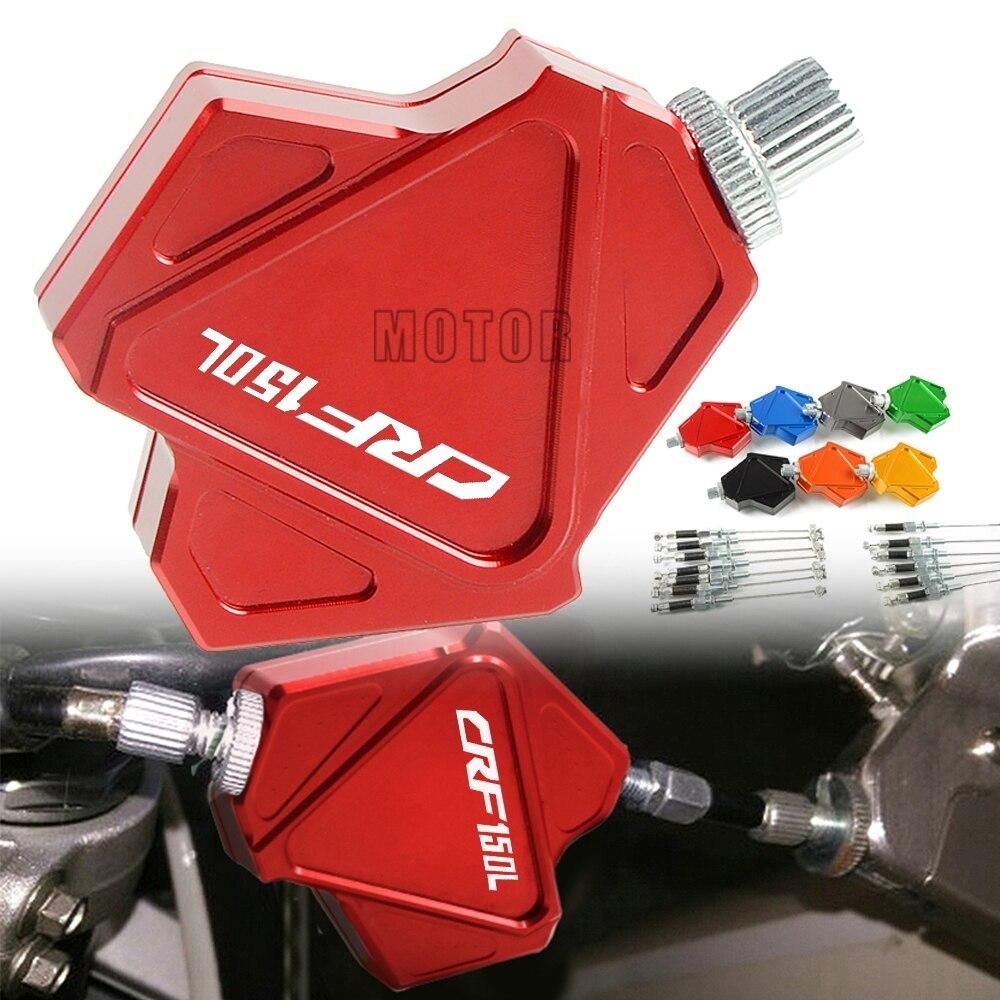 Para Honda CRF CRF150L 2018 CRF150 150L 150 L CNC Motocicleta Motocross Dirt Pit Bike Dublê Alavanca Da Embreagem Fácil Puxar sistema de cabo