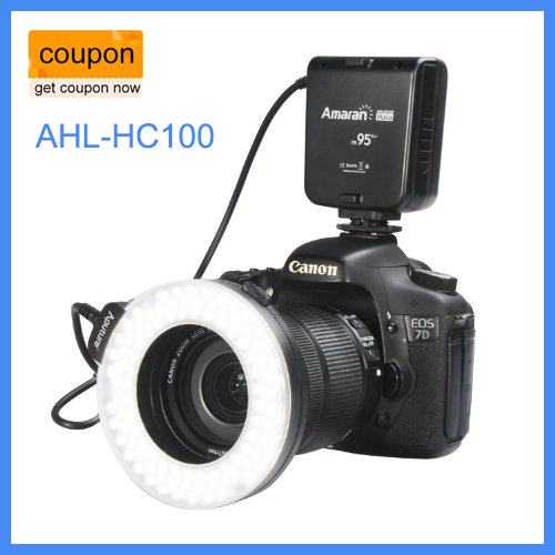 Aputure Amaran Halo AHL-HC100 LED Ring Flash Light For Canon Camera DLSR Cameras 5D MARK II III 650D 550D 700D 7D 5D2 60D купить в Москве 2019