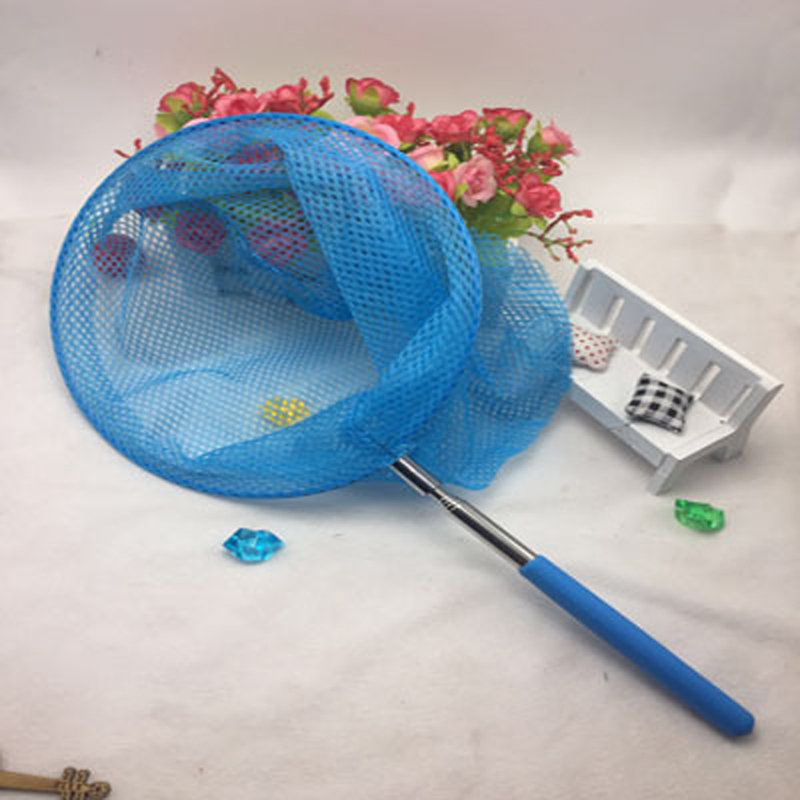 1pc Kids Telescopic Butterfly Net Extendable 34 Inches And Anti Slip Grip Perfect For Catching Bugs Insect Colorful Fishing Toys