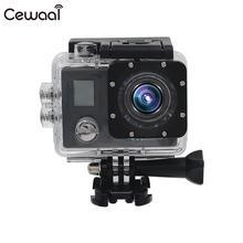 Cewaal Ultra HD 1080 P Спортивная камера с двойным экраном 150 широкоугольный объектив видеокамера для плавания wifi Портативный
