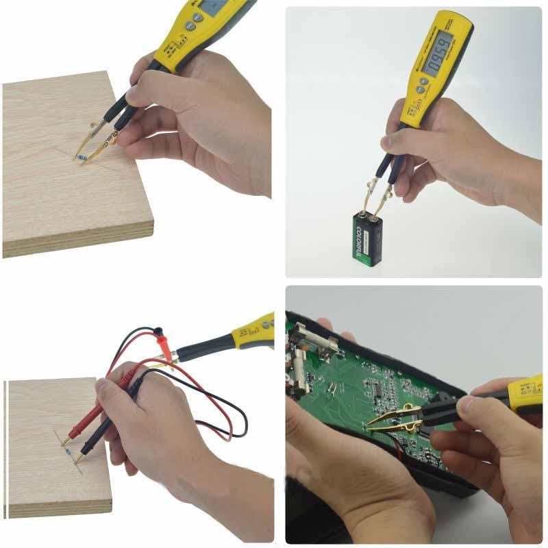 Holdpeak HP-990C SMD Digital Insulation tester Multimeter Auto Power off Resistance Capacitance Power Battery Insulation Tester 4