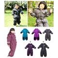 Winter Rompers Boy & Girl Snow Suit Kids Outdoor Waterproof Coat Children Skisuit Girls Overall Windproof Jumpsuit Cotton Padded