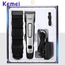 Kemei-236 Electric Hair Trimmer Rechargeable Clipper Stainless Steel  Portable Cordless Adjustable Digital