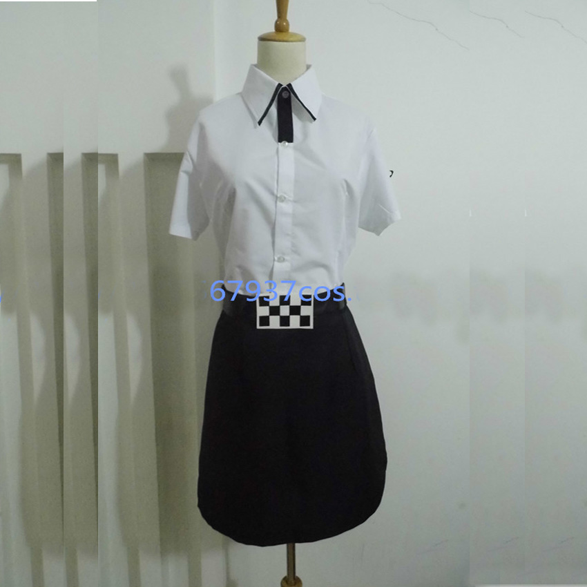 Steins Gate Kurisu Makise Kiriyu Moeka Cosplay Costume Clothes Uniform Dress