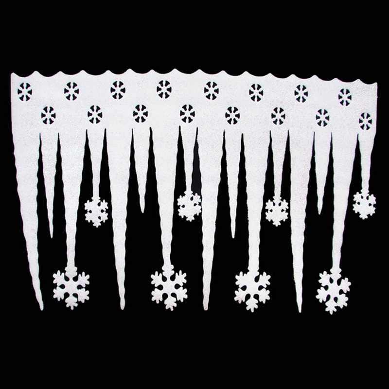 2018 Mới Màu Trắng Bông Tuyết Ice Dải Giáng Sinh Xmas Trang Trí Trang Trí Lễ Hội Bên Cửa Sổ Mùa Đông Nguồn Cung Cấp Trang Trí