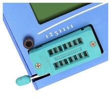 Многофункциональный ЖК-подсветка транзистор тестер диод тиристорный Емкостный СОЭ LCR метр с блау пластиковый корпус
