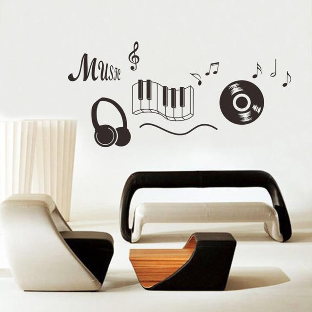 Muziek Sticker hoofdtelefoon Thema Muziek Slaapkamer Decor Dansen ...