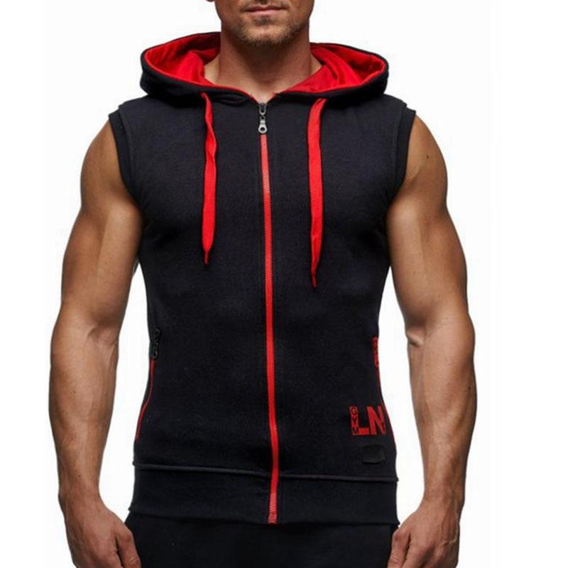 Male Bodybuilding Hoodies Fitness Clothes Hoody Cotton Hoodie Men Sweatshirts Men s Sleeveless Tank Tops Casual
