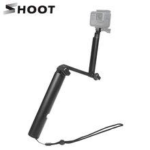 SHOOT 3 Way Grip Monopod Selfie Stick for GoPro Hero 9 8 7 Black Xiaomi Yi 4K Dji Osmo Sjcam Sj8 Eken Go Pro Hero 5 Accessories