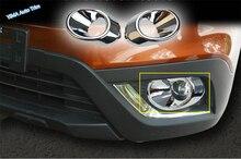Lapetus Car Styling Front Head Fog Lamp Lights Frame Foglights Ring Decoration Cover Trim For Suzuki SX4 S-cross 2017 2018 2019