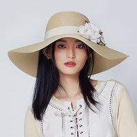 Summer Women Beach Hat Sunscreen Flowers Sweet Caps Vacation Sun Hats