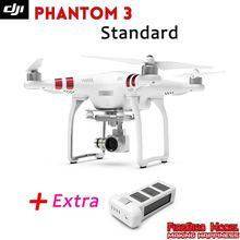 DJI phantom 3 estándar con Batería Adicional, 2.7 K cámara de alta definición, buildin GPS sistema, live HD vista, Opción de batería adicional