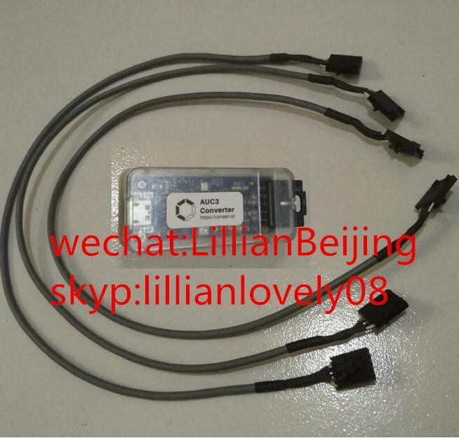 3 pcs of Avalon wire AUC3 cable with 1pc of AUC3 converter connector for Avalon Miner 741, 721, 841, 851 data cable(China)