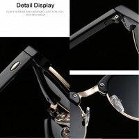 Luxury Vintage Semi-Rimless Sunglasses 3