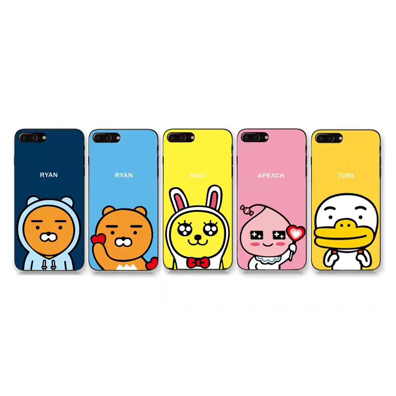 B&E For iPhone 7 Plus case cartoon bear 6 6sPlus silicone matte back cover for iPhone X  ...