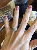 Test Positive 2 Carat Mossanite Gem Engagement Genuine 585 Rings Rings For Women The Center Stone