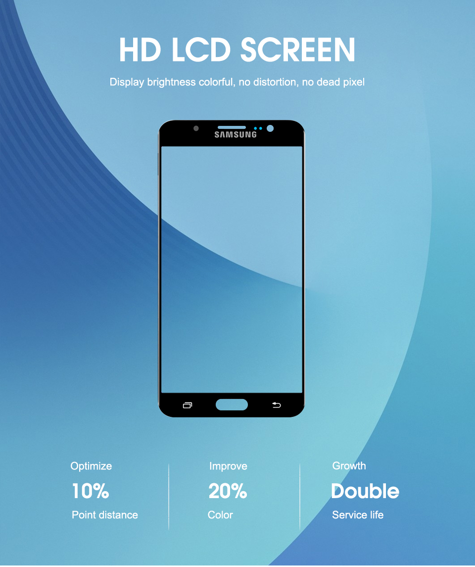 100% Tested For Samsung Galaxy J7 2016 J710FN J710F J710M J710 LCD Display Touch Screen Digitizer Brightness Adjustable Assembly