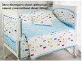 Promotion! 6/7PCS cot baby bedding set 100% cotton crib bedding set for newborn cute,Duvet Cover ,120*60/120*70cm