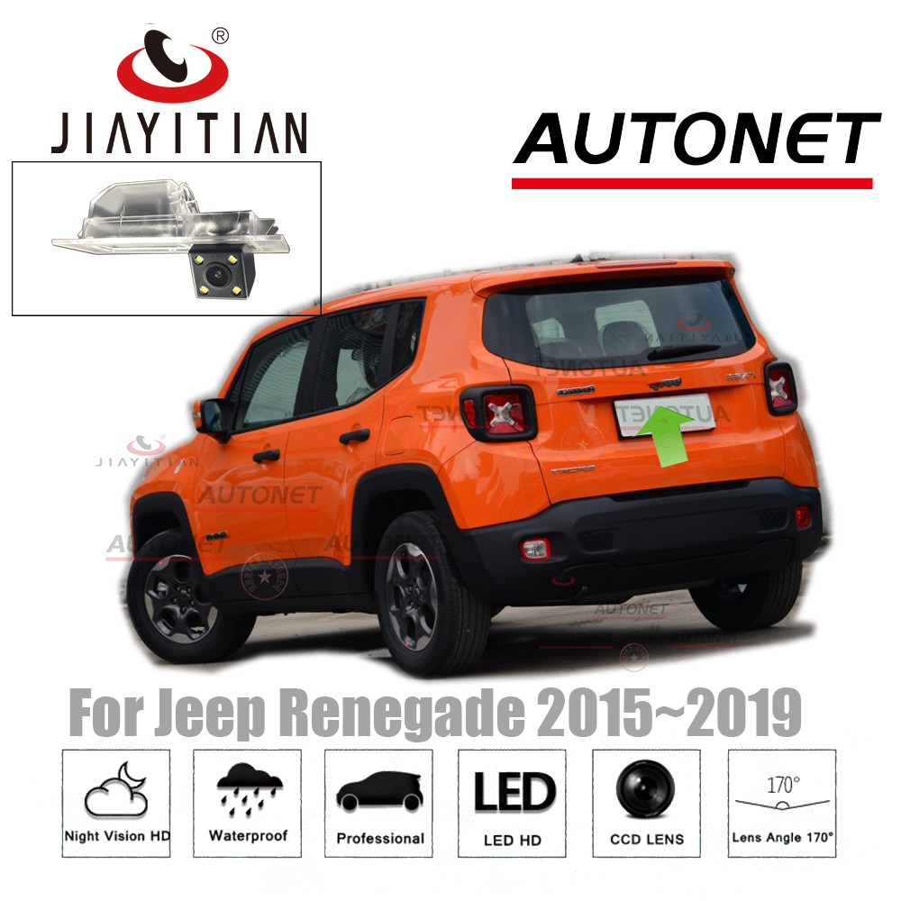 JIAYITIAN Rear View Camera For Jeep Renegade 2015~2017 CCD Night Vision Reverse Camera License Plate camera backup camera jiayitian rear camera for chevrolet orlando 2010 2017 ccd night vision backup camera reverse camera parking license plate camera