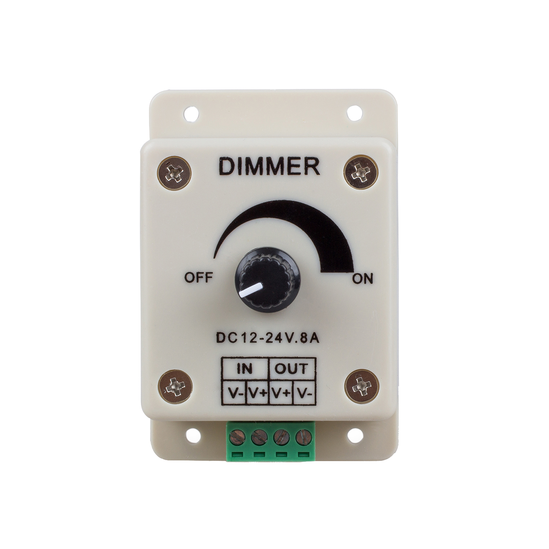 GSFY-PWM Dimming Controller For LED Lights,Ribbon, Strip,12 - 24 Volt(12V - 24V)8 Amp