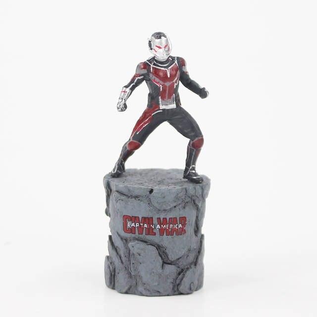 6.5cm Avengers Civil War Captain America Super Hero Ant Man Wasp PVC Action  Figure Collectible c3249881d5c3