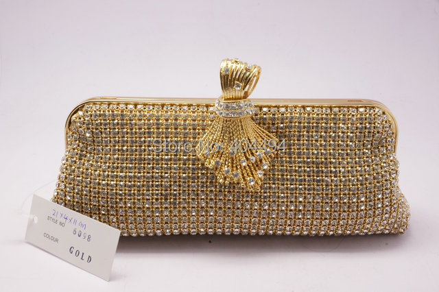 fashion designer soft crystal clutch bags evening bags free ...