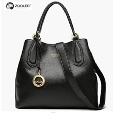 цены  Hot Women leather bag trendy solid soft handbag New  Genuine Leather shoulder Bags Tote bolsas women shoulder bags#H128