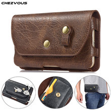 CHEZVOUS Pouch Leather phone Case For iPhone XS X 6 7 8 plus XS Max Waist Bag Universal Belt Clip 4.7 6.4inch For Samsung Huawei