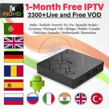 IPTV India árabe Pakistán HK1 caja de TV 1 mes IPTV gratis IP TV Turquía Italia Polonia IPTV suscripción Países Bajos Francia reino Unido IP TV